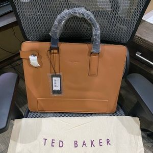 Ted Baker Leather Document Bag - Tan